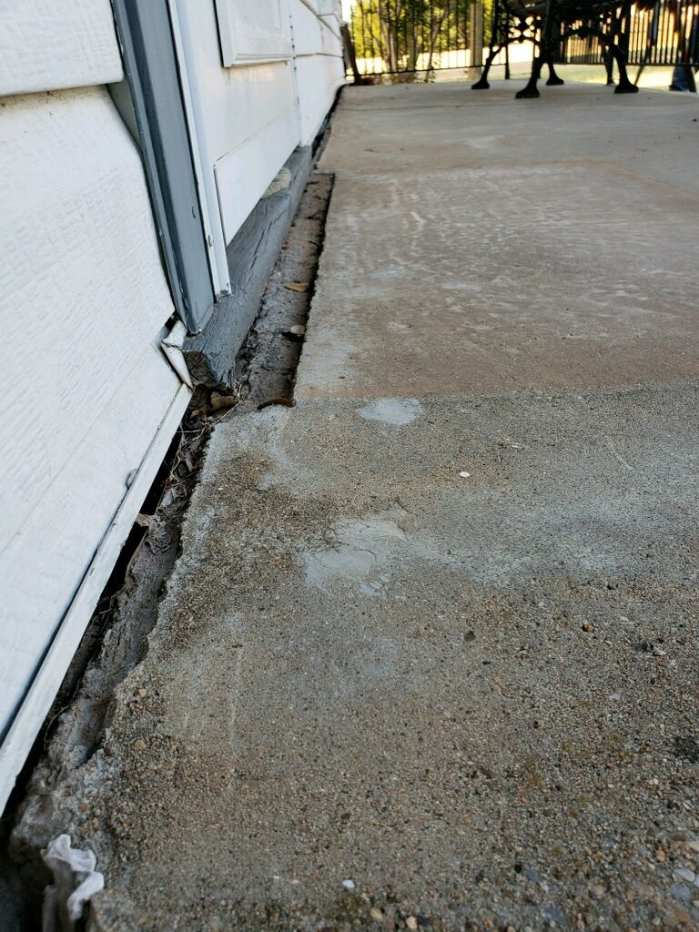 If you've noticed cracks like this in and around your home, you're not alone. There are thousands of homes in North Central Texas impacted by overactive clay soil. While subtle in nature, foundation shifts can lead to costly and dangerous conditions in and around your home. Here you can see the home literally pulling away from the concrete patio of the front porch.